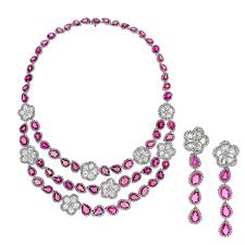 pink sapphire necklace images Pink sapphire necklace and earring set avakian the jewellery jpg