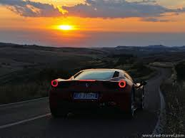 ferrari back view 458 italia back view dark light fantastic sunset