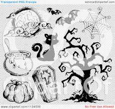 halloween black and white background clipart of sketched black and white halloween items 2 royalty