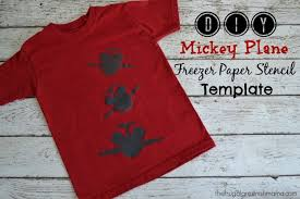 diy mickey plane freezer paper stencil shirt printable
