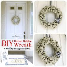 pin test diy burlap bubble wreath www thepinningmama com