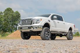 nissan frontier suspension lift 2016 nissan titan xd w 6in suspension lift kit titan