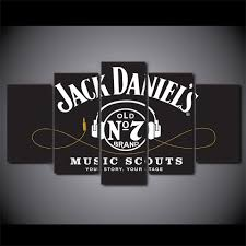 popular jack daniel buy cheap jack daniel lots from china jack 5 panels modular canvas for room decor hd printed jack daniels drink painting headset movie poster