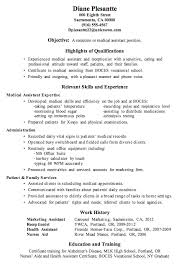 Example Of Skills Resume by Examples Of Medical Assistant Resumes Berathen Com