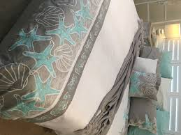 seascape quilt cover pre order seaweed and sand