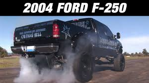 Ford Diesel Truck Exhaust Systems - 2004 ford f250 diesel with flowmaster pro series muffler youtube