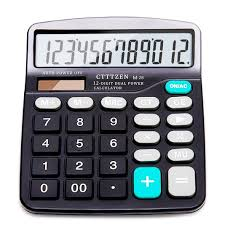 amazon com calculator 12 digit solar battery basic calculator