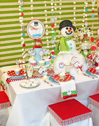 Decoration Ideas For Christmas Party by Amanda U0027s Parties To Go Snowman Fun Part 1
