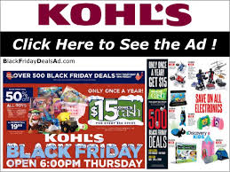 kohl s 2017 black friday deals ad black friday 2017