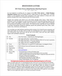 sample business meeting invitation letter 8 free documents