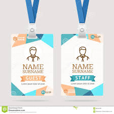id card template plastic badge vector stock vector image 89761063