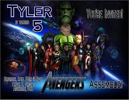 avengers personalized photo birthday invitations 2012 1 19