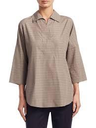womens cotton blouses akris punto kimono eyelet cotton blouse taupe s tops blouses