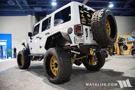 jeep gold 2016 sema vision off road jeep jk wrangler