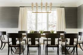 Pictures Of Wainscoting In Dining Rooms Fascinating Dining Room With Grasscloth And Wainscoting By Sabbe