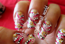 style small world easy and simple nail art design at home