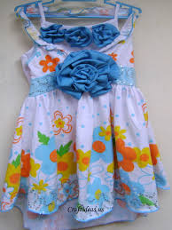 spring garden for fashion colorful flowers dress for kids craft
