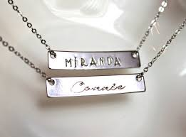 nameplate bar necklace name plate bar necklace nameplate necklace personalized necklace