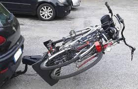 porta bici da auto portabici da gancio traino porta 2 o 3 biciclette ribaltabile