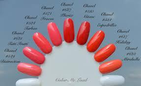 chanel dans la lumière l u0027été summer collection nail polishes