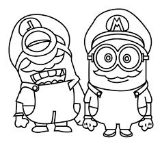 Minions mario et luigi  Coloriage Minions  Coloriages pour enfants
