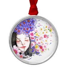 flower girl christmas ornament girl ornaments keepsake ornaments zazzle