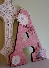 Decorating Wooden Letters For Nursery 238 Best Wooden Letter Ideas Images On Pinterest Decorated