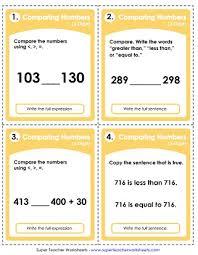 comparing numbers 3 digit worksheets