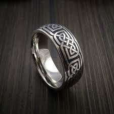 celtic wedding knot ceremony cobalt chrome celtic wedding ring celtic knot custom made