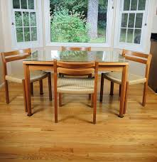danish modern teak dining table and chairs by jl moeller ebth