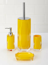 bathroom accessories yellow interior design