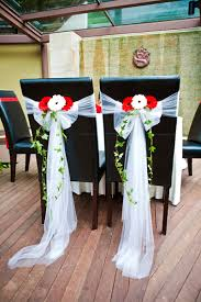Chair Tie Backs 6 Villa Halia Bride And Groom Chair Tie Backs Florist Sg