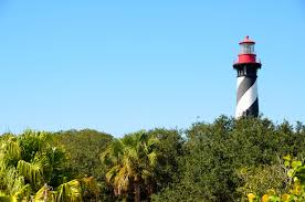 free stock photo of lighthouse the trees in st augustine