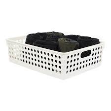 shallow closet solutions plastic storage baskets u0026 bins storables