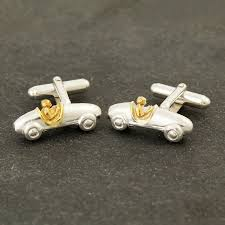 gold bugatti solid silver and gold bugatti cufflinks by me and my car