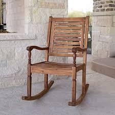 Patio Rocking Chairs Wood New Acacia Wood Outdoor Patio Rocking Chair Garden