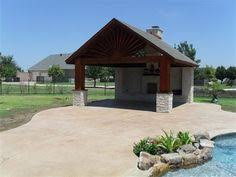 Detached Covered Patio Charlotte Covered Patio With Pergola Covered Patios Photo