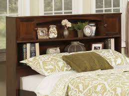 King Size Headboard With Storage Bed Storage Bed With Bookcase Headboard Bookshelf