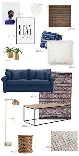 blue sofa living room living room style update navy blue sofa earnest home co