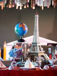 travel themed table decorations grandpa loy and andrei s travel party khim cruz wedding and