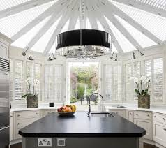 modern black and white kitchen modern crystal chandelier kitchen contemporary with black and
