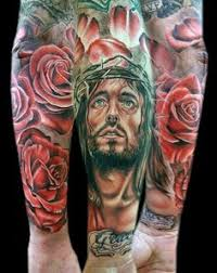religious half sleeve tattoos men on religious tattoos for men