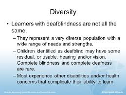 students with deafblindness developmental impact powerpoint