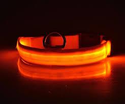 Light Up Dog Collar Nylon Led Light Pet Dog Collar Night Safety Flashing Glow In The