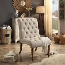 linon sophie grey fabric tufted back accent chair black legs
