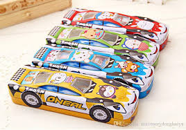 pencil box 2018 children car design two layer metal pencil box kids fashion