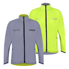 fluorescent cycling jacket switch men s cycling jacket yellow reflective reversible
