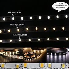 led daylight strip light amazon com marswell cri 90 led strip lights neutral white 4000k