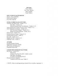 Resume Template High Resume Templates High Students Thebridgesummit Co