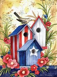 patriotic birdhouse trio vickie u0027s place pinterest birdhouse